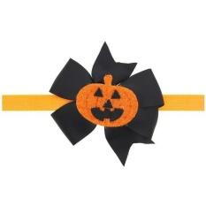 Weiyue-Barat Halloween Bowknot Bayi Rambut Band Pumpkin Kids Lovely Fashion-Intl