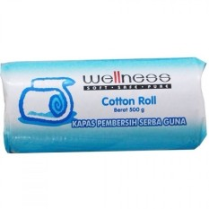 Wellness Cotton Roll 500 G - Kapas Gulung Pembersih Serba Guna By Plasamainan.