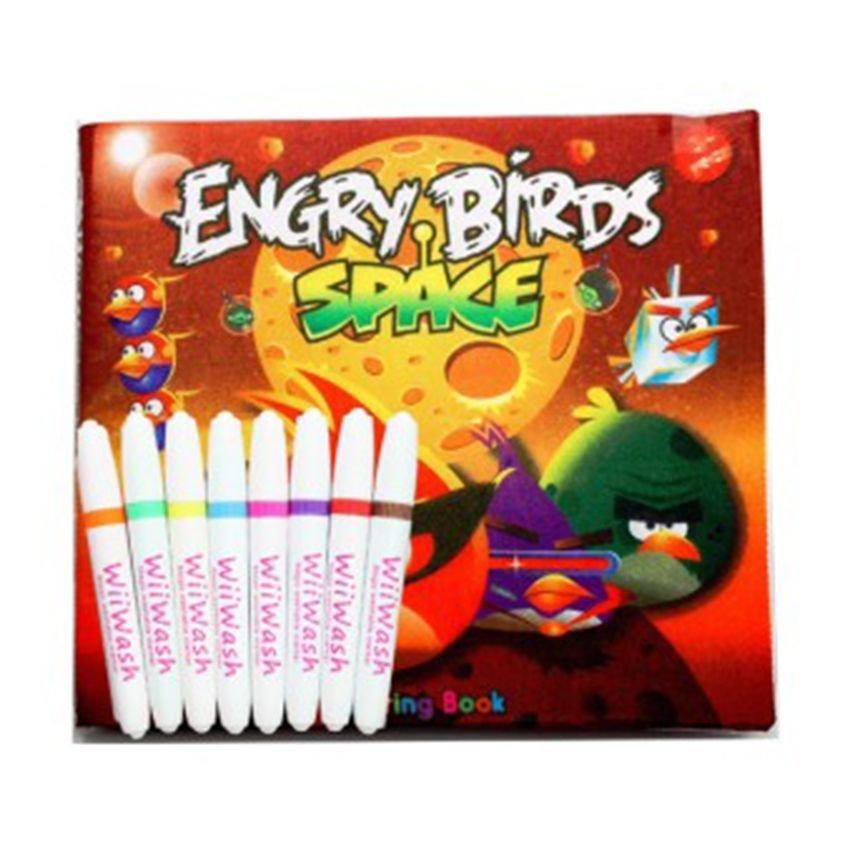 Wiiwash Washable Book Set Buku Gambar Bisa Dicuci - Angry Birds
