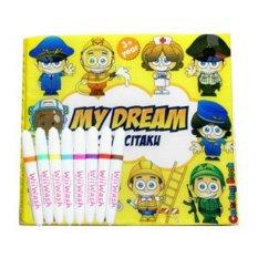 Wiiwash Washable Book Set Buku Gambar Bisa Dicuci My Dreams Di Dki Jakarta