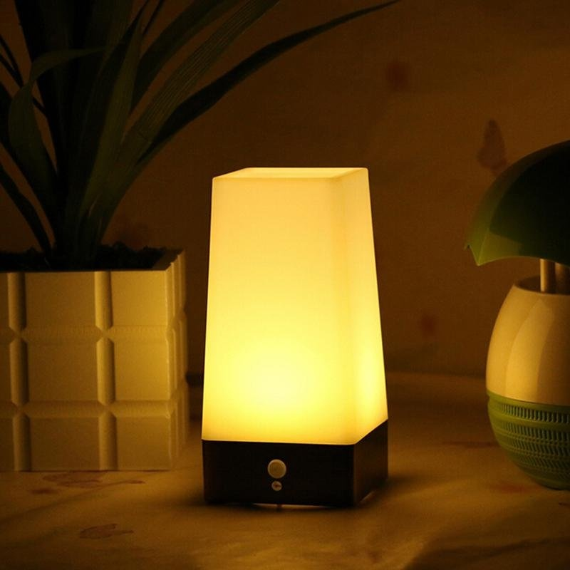 Wireless MOTION SENSOR Night Night Light Battery Powered LED Lampu Meja-Intl