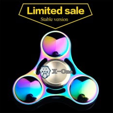X-One Fidget Hand Spinner Premium Rainbow Chrome 3 Bullet 2,5 inch Anti-Stress Toy Adhd Autism Therapy Exclusive Case Bundle