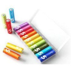 Diskon Xiaomi Baterai Alkaline Aa Battery 10Pcs Multi Color Branded