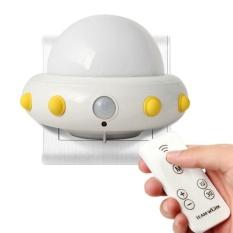 Yogon Anak-anak Cahaya Malam Kecil dengan Timer Plug In Wall Night Lamp untuk Anak. Remote Control untuk 3 Mode Pencahayaan. 5 Gelar Terang. Waktu 10/30 Min (Putih)-Intl
