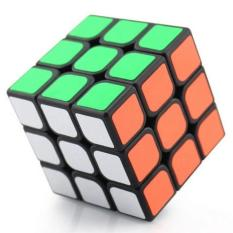 Yongjun Rubik 3x3 Base Hitam - Mainan Rubik 3x3  Full Color