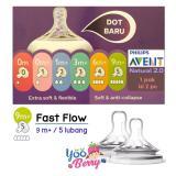 Kualitas Yooberry Avent Natural N*ppl* Dot Botol Bayi Fast Flow 5 Lubang 9M Avent