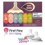 Spesifikasi Yooberry Avent Natural N*ppl* Dot Botol Bayi First Flow Lubang 0M Murah