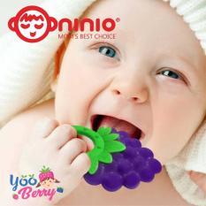YooBerry Ninio Silicone Teether Strawberry & Grapes Gigitan Bayi Silikon Buah-Buahan
