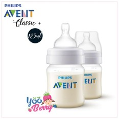 Yooberry Philips Avent Botol Susu Classic 125Ml Twin Pack Avent Diskon 40