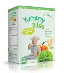 Yummy Bites Snack / Biskuit Bayi Rasa Sayuran (Vegetables Flavor) - Hijau