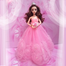 Yunmiao Gorgeous Flower Pearl Princess Gown Evening Party Dress Doll Clothes Outfit for 12
