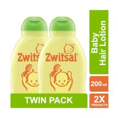 ZWITSAL Natural Baby Hair Lotion Aloe Vera, Kemiri & Seledri 200 ml - Twin Pack [ ISI 2 Pcs ]
