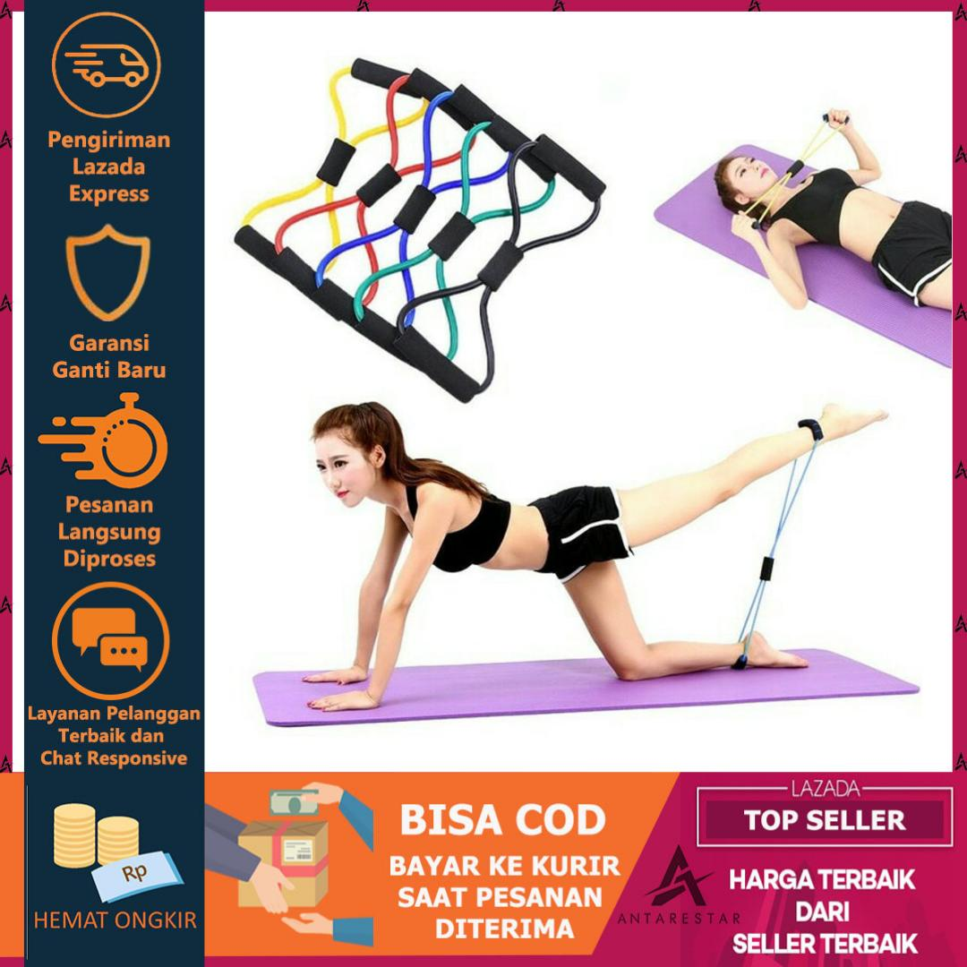 Tali Elastis Yoga Alat Olah Raga Elastic Band Fitness Gym Tali Karet Pilates Stretch Rope By Antarestar.