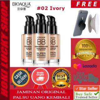Bioaqua BB Cream Super Wearing Lasting 02-Ivory Concealer Foundation Coverage Krim Wajah Original Asli Waterproof 30ml + FREE PopSocket Keren 1 Pcs thumbnail