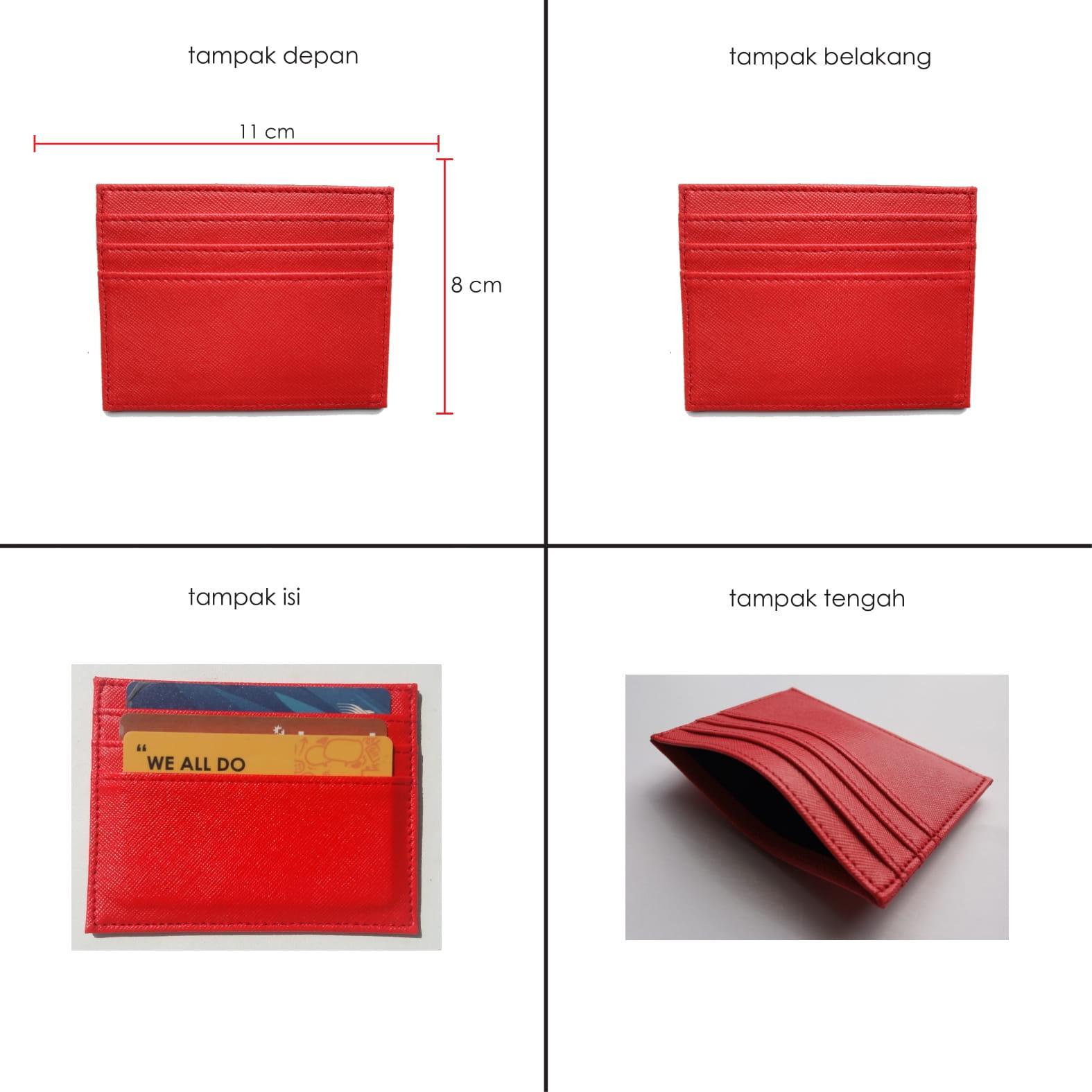 Garuda Card Holder Mini Dompet Kartu Nama ATM KTP - Merah