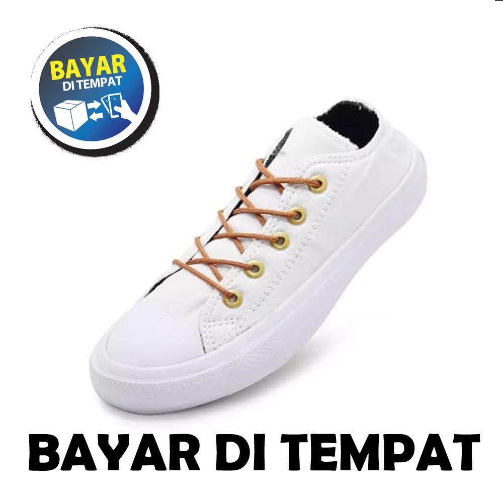 Zacksho Original 04 Sepatu Sneakers Pria Dan Wanita FULL PUTIH Kets All Star /Sepatu santai /Sepatu Olahraga