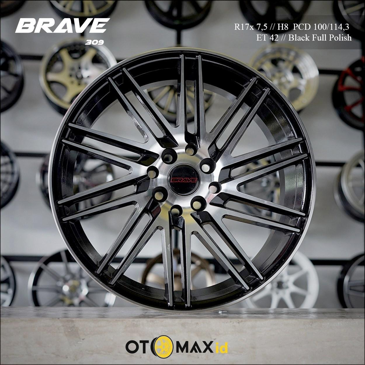 Velg Mobil Brave 309 Ring17 Black Full Polish