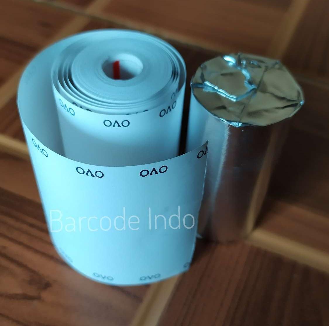 Kertas Thermal Struk Berlogo OVO untuk Printer OVO Pay Grab Food