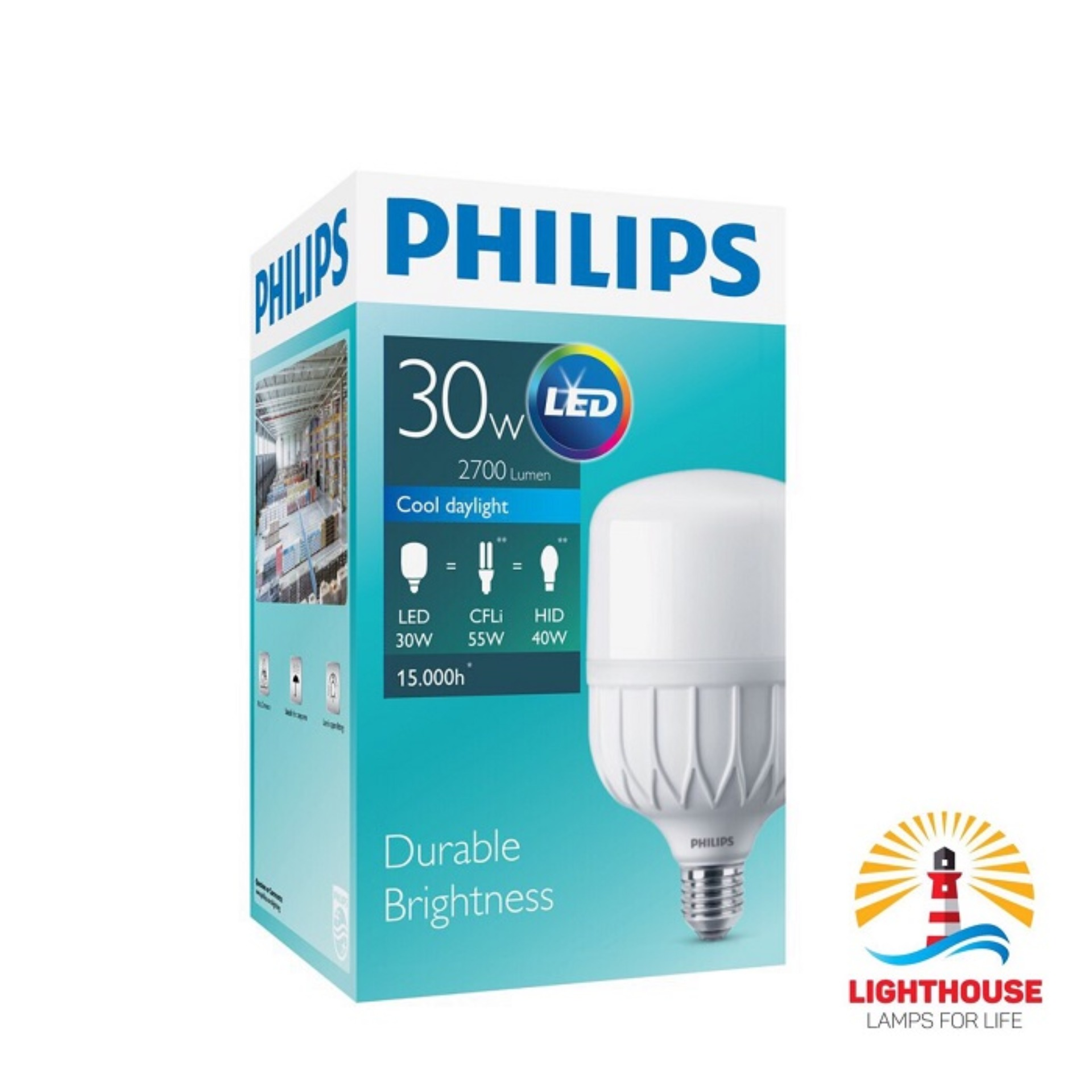 Philips Lampu LED TF 30W Led True Force 30 Watt Core HB 865 E27 Putih