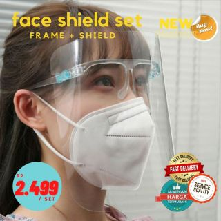 Bobi Face Shield Kacamata Nagita Face Shield Jokowi - Apd Medis Safety Mika bening thumbnail