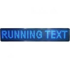 Prima LED Running Text Flashdisk Outdoor - 16 x 105 cm - Biru
