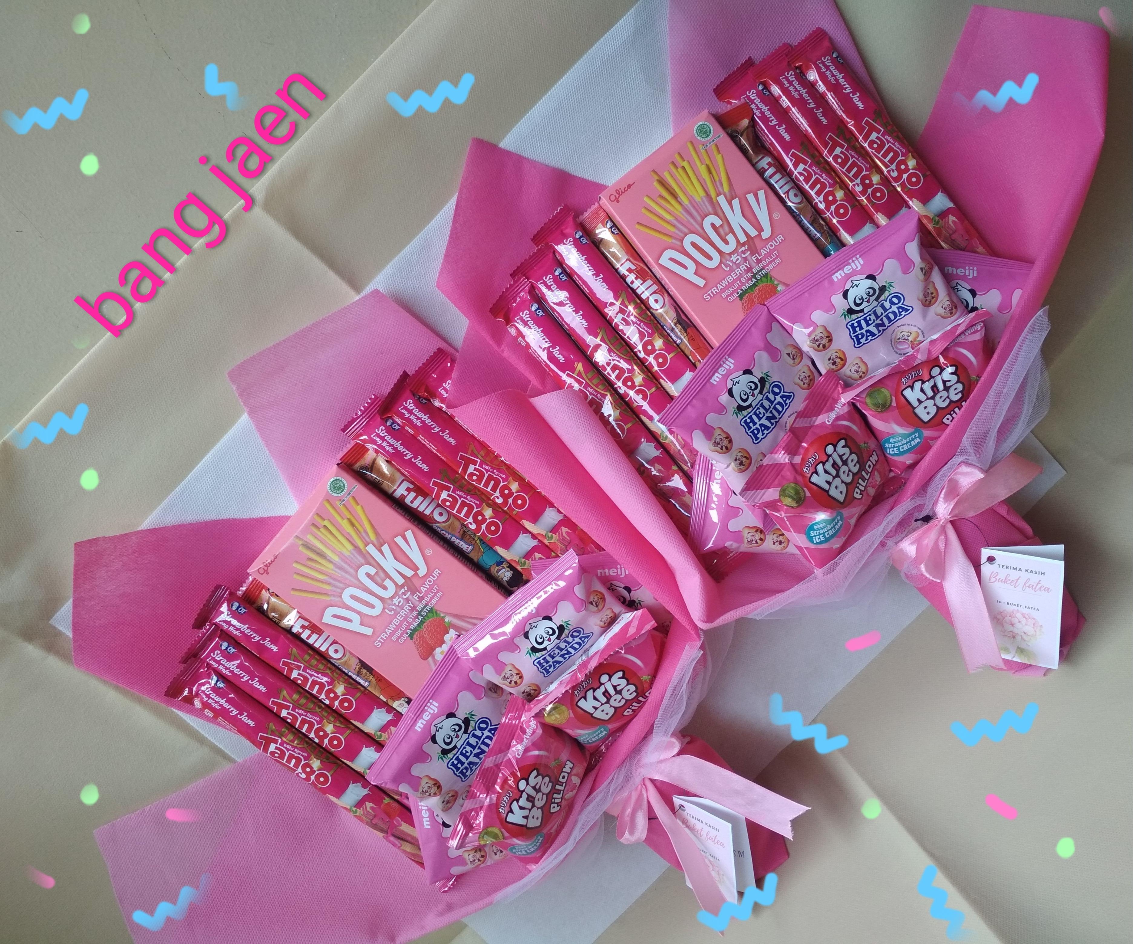 Bucket Snack Variant Pink Bucket Wisuda Cantik Dan Murah Lazada Indonesia