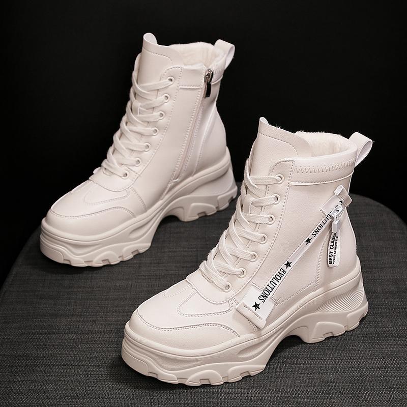 Boots Salju perempuan 2018 model baru musim gugur dan dingin netral Tambah  beludru tipis sepatu bot 4d6c1607d0