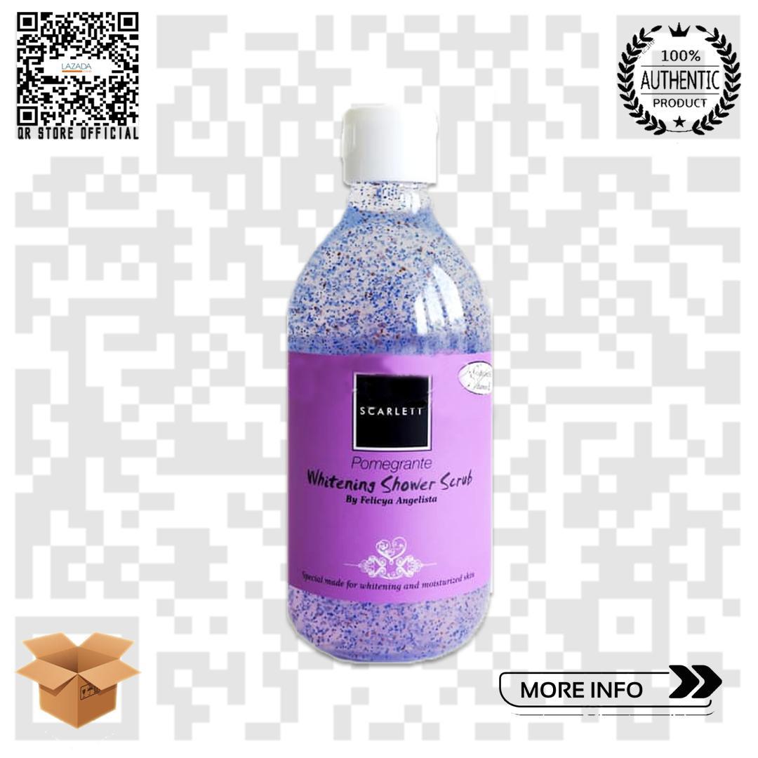 Scarlett Pomegrante Whitening Shower Scrub By Qr Store Official.