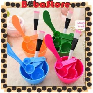 Bobastore R015 Mangkok Mangkuk Masker Set Wajah Kosmetik DIY Kuas Murah Alat Make Up 4 in 1 Facial Brush thumbnail