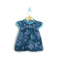 MenthikBatik Dress Tenun Endek Tosca