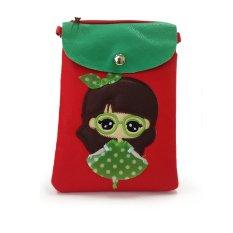 Farrel Aline Kids Wallet - Red Green