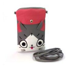 Farrel Cats Kids Wallet - Grey Pink