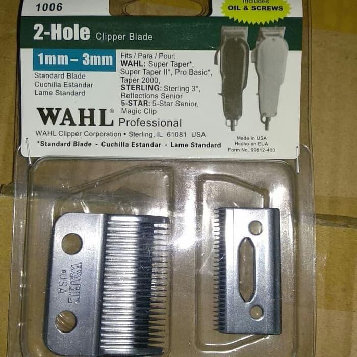 TERLARIS Mata Pisau PRO Clipper blade WAHL ALAT CUKUR RAMBUT  2 hole 1mm -  3mm f11be6274f