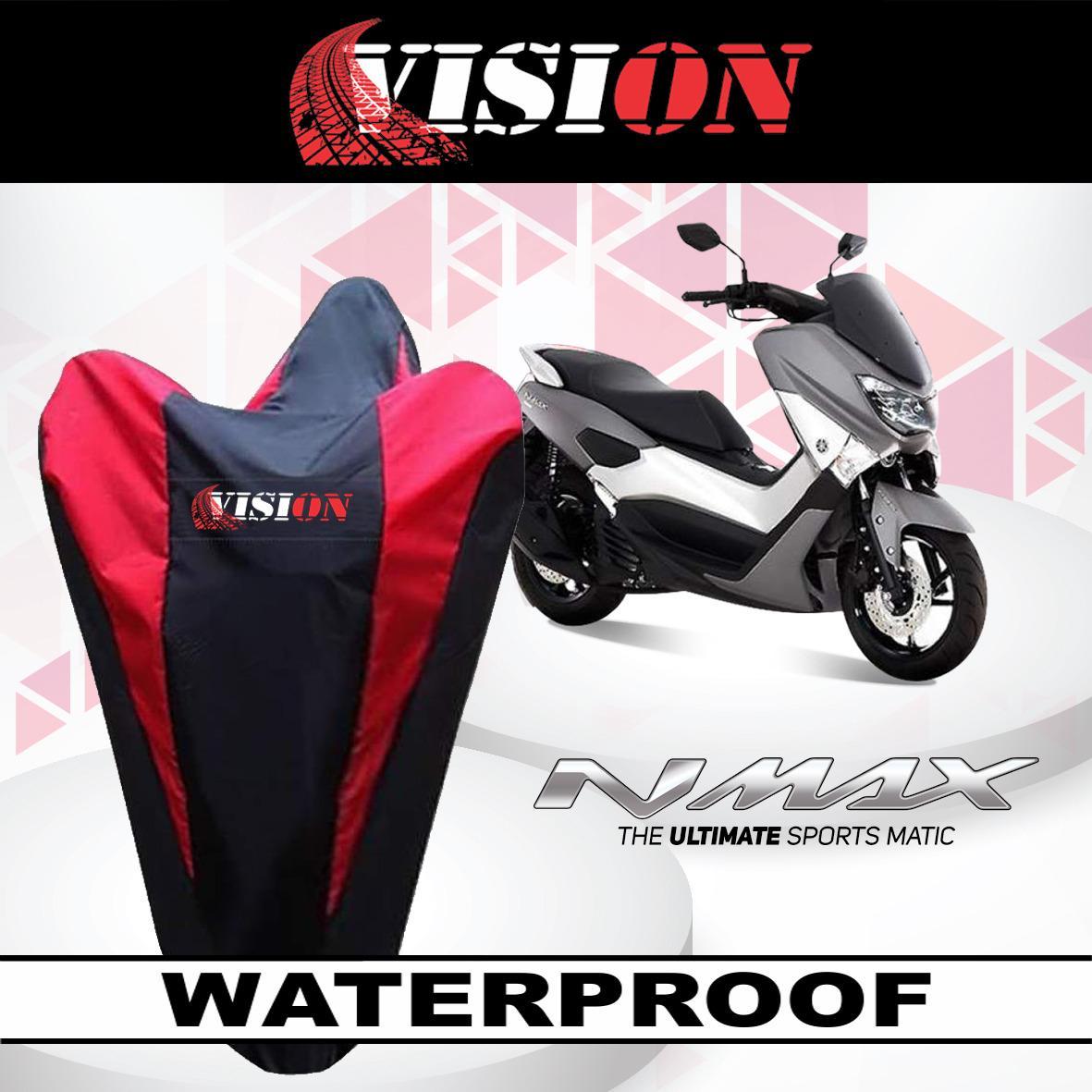 [ Bayar Di Tempat ] List Merah Sarung Bodi Motor Yamaha Nmax Anti Air Vision Cover Body Waterproof Penutup Selimut Pelindung By Cover Ban.