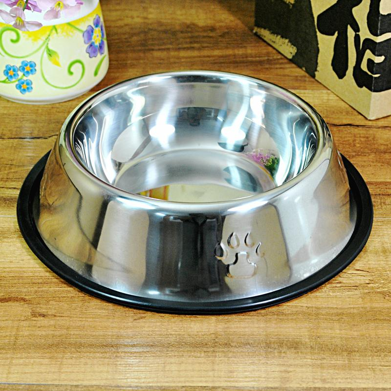 Dogs Pelvic Dog Bowl. Stainless Steel Golden Retriever Tidy Cats Dog Food Bowl Large Size Gato Negro Wan Cat Food Holder Pet Bowl Single Bowl By Taobao Collection.