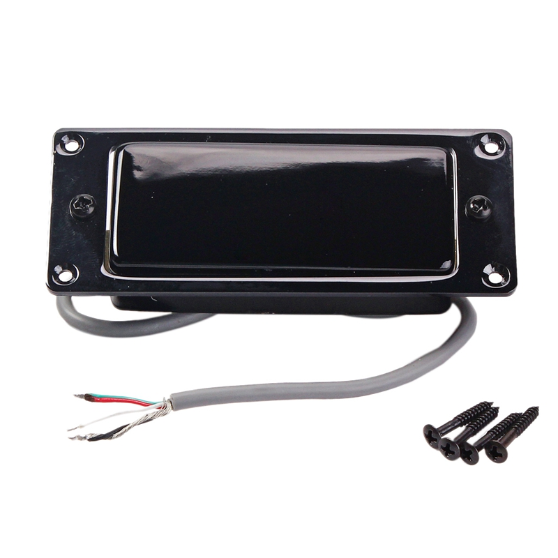 Black Mini LP Guitar Humbucker Pickup Sealed Cover