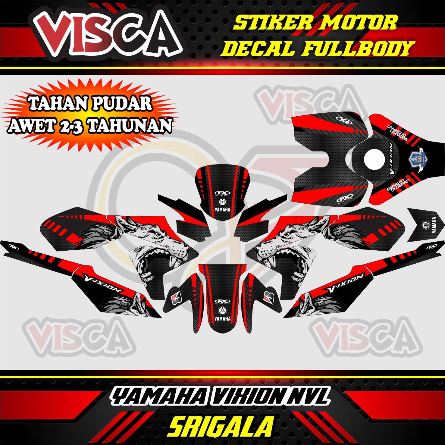 Dekal Vixion Stiker Motor Vixion New Stiker Motor New Vixion Stiker Motor Vixion 2014 Lazada Indonesia