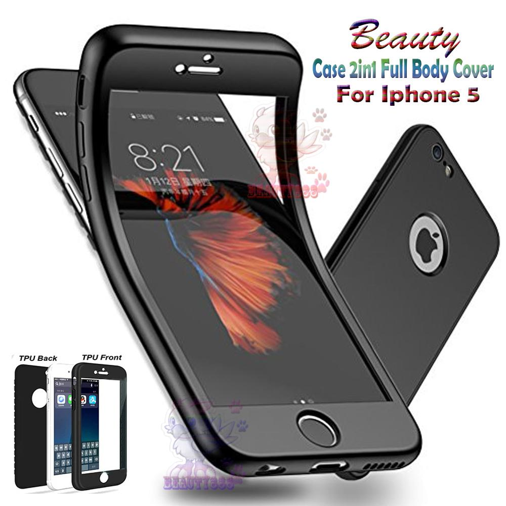 Beauty Soft Case Iphone 5 Black (2in1) Case Fullbody Cover Apple Iphone 5 Baby