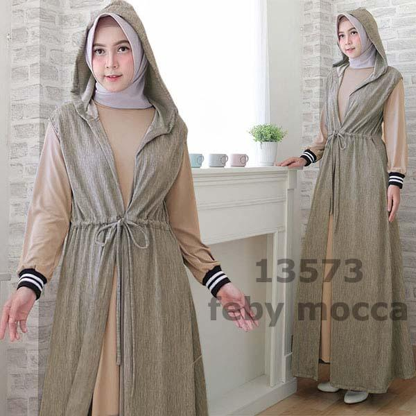 gamis Feby 13573 mocca 2 in 1