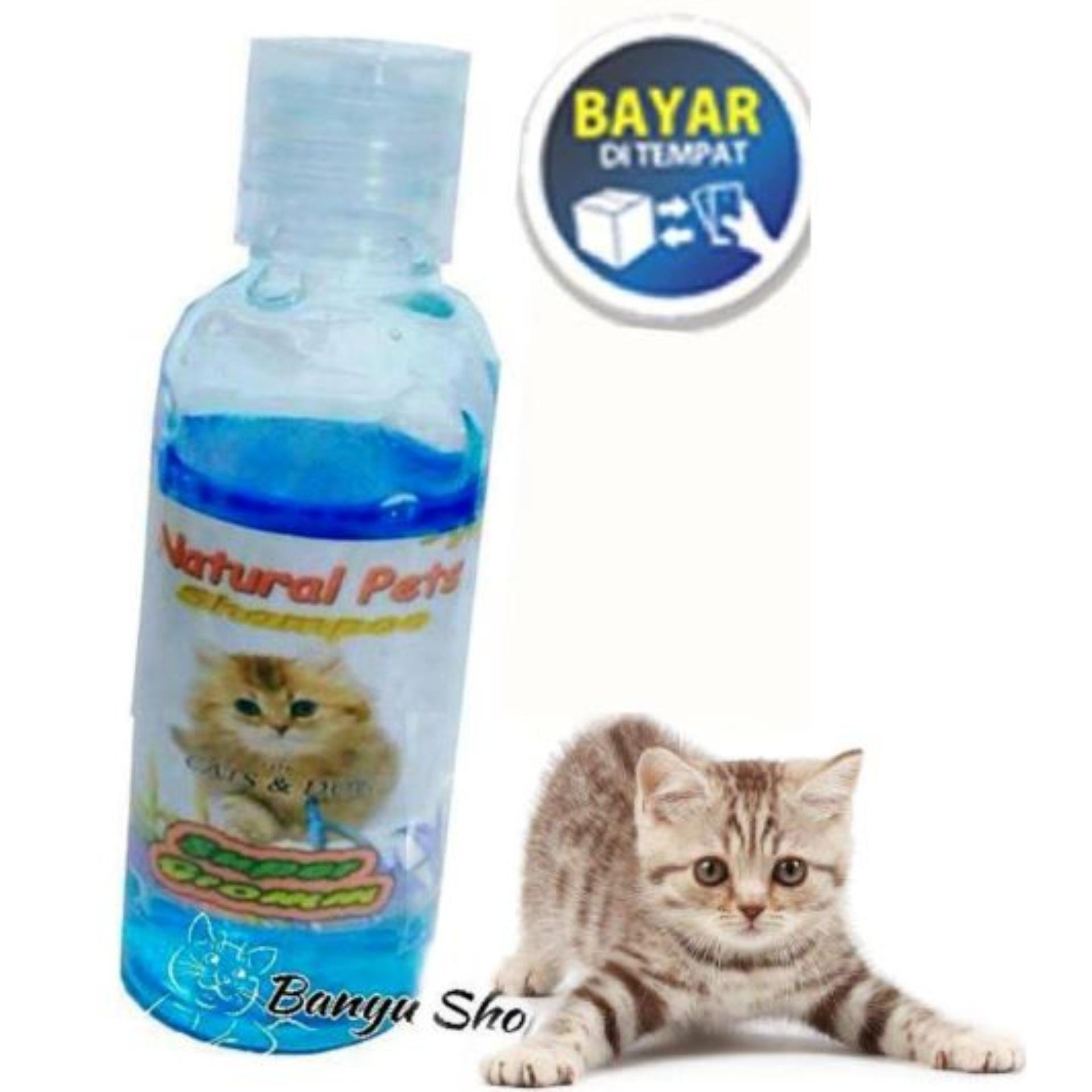 Shampo Kucing Anjing Anti Kutu Sampo Jamur Tic & Flea Segi Plus - Biru Ukuran 50ml By Banyu Shop.