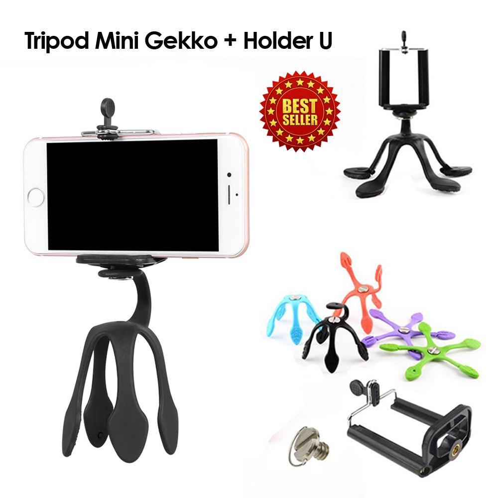 Tripod Mini Flexible Portable Gekkopod + Holder U Mini Camera Tripod Stand Mount Holder Mount For
