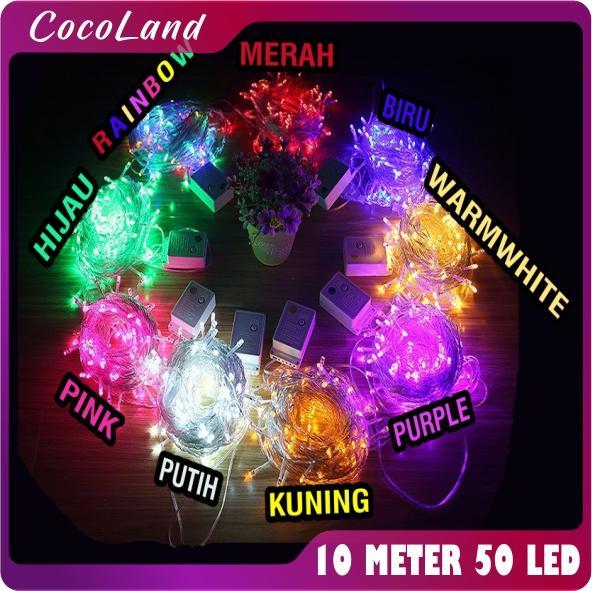 Cocoland - 002 Lampu Hias Led Tumblr 10 Meter Bonus Kotak Bubblewarp Import By Cocoland.
