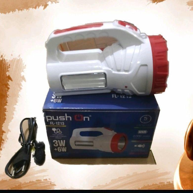 Senter dengan Lampu Emergency Merk Push On