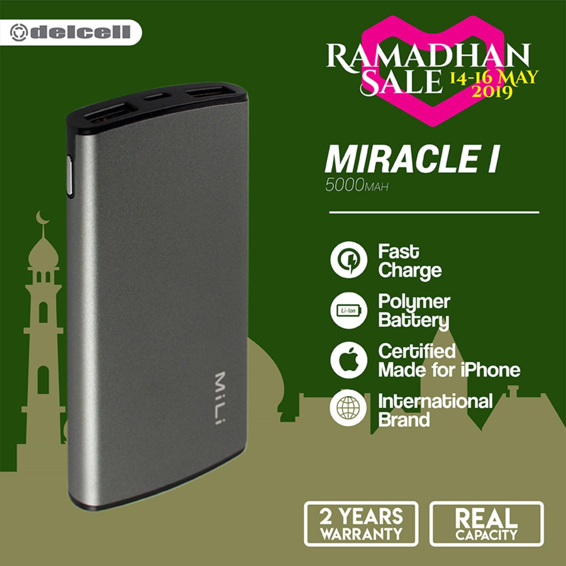 MiLI Power Miracle I Powerbank 5000mAh Real Capacity - Grey