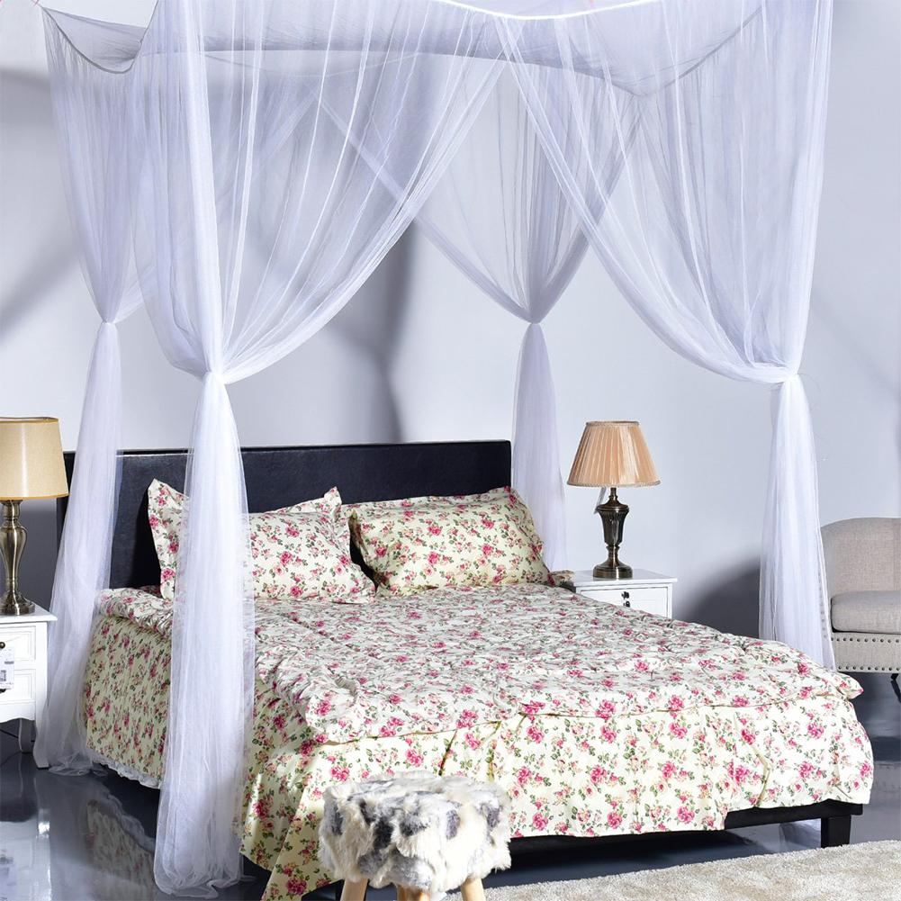 RD Home Large White 4 Opening Door Hanging Mosquito Net Dimensions:190*210*240