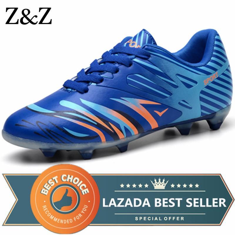 270ab9077 Z z Men Long Spikes Football Shoes Boys Kids Superfly Soccer Shoes Adult  Trainers Sport Sneakers By