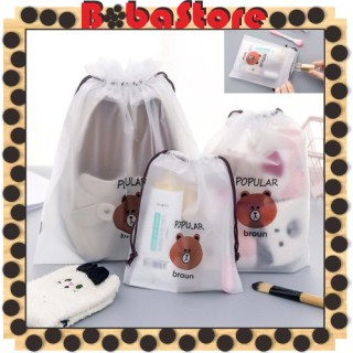 Bobastore - R080 Tas Kosmetik Line Transparan MakeUp Pouch Anak Sekolah Travel Bag Wanita Fashion thumbnail