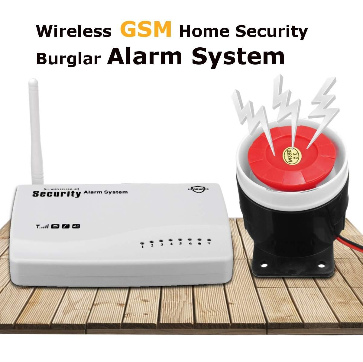 Jiuch YA-300-GSM WiFi GSM Wireless Alarm System Home Security Infrared Door IR Sensor Detector With Siren Remote Control
