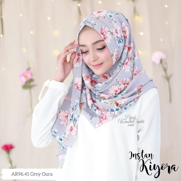 Pashmina Instan Kerudung Hijab Jilbab Instan Motif Kiyora