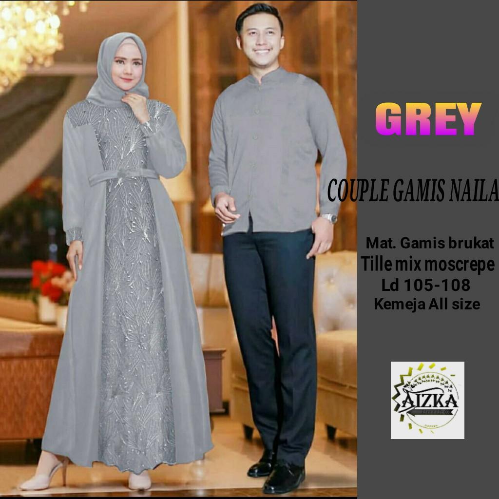 Termurah!!! dan COD Saudah Store NAila couple baju couple batik keluarga  baju couple batik remaja batik couple atasan baju batik couple untuk pesta